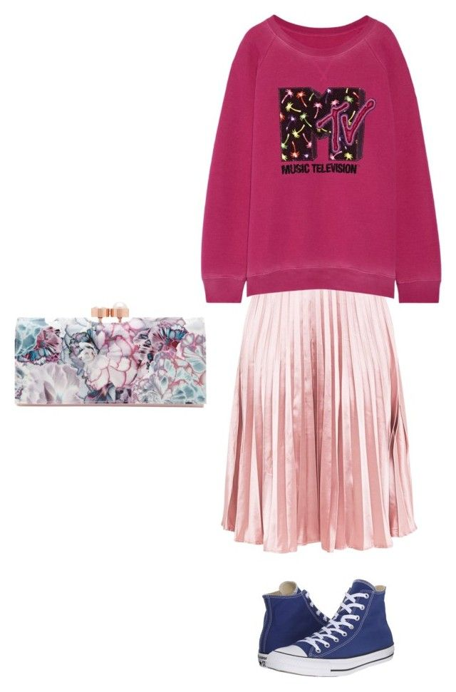 Розовый by irina-shtyrova on Polyvore featuring мода, Marc Jacobs, Converse and Ted Baker