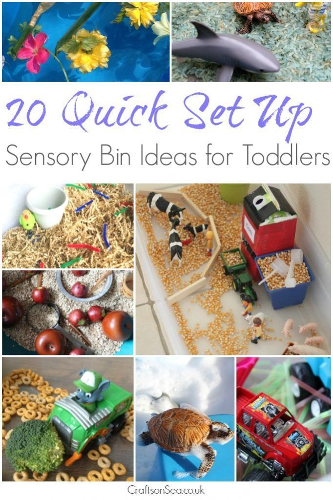 Does your kid love sensory play but you don't have hours to set things up? These quick set up sensory bin ideas for toddlers are your answer!