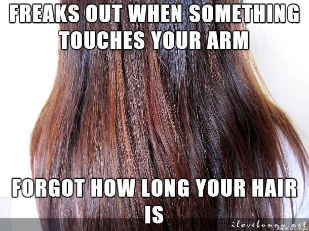 Long Hair Problems.     Usually freak out thinking its a spider  or a web but it's only a few hairs  Yep.