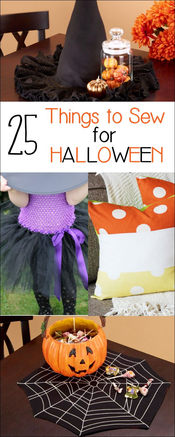 25 Fun Halloween Sewing Project Ideas