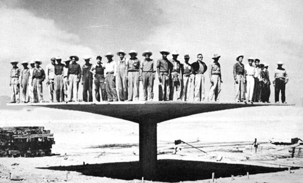 Thin-shell, reinforced concrete, Hyberbolic-parabaloid 'umbrella.' Mexico, 1950s | Felix Candela