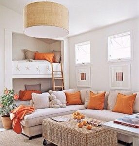 Playroom/bedroom - love the built in bed nooks