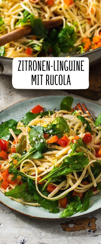 Zitronen-Linguine mit Rucola  – Pasta kann Alles