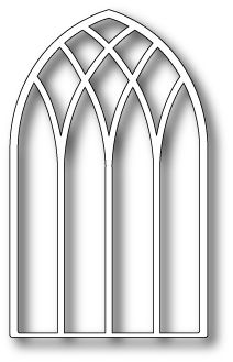 "Grand Gothic Intersecting Arch - $14.99 Grand Gothic Intersecting Arch by PoppyStamps!  Decorate it for Christmas or another occasion.  Put two together for a beautiful gate! Approximately 2.5"" x 4.1"""