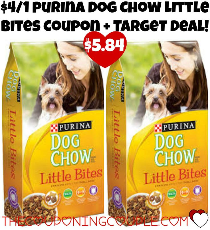 *CHEAP* $4/1 Purina Dog Chow Little Bites Coupon + Target Deal!  Head over and print this high value $4/1 Purina Dog Chow Little Bites Coupon and use it at Target to score bags over 50% Off thru 9/26!  Click the link below to get all of the details ► http://www.thecouponingcouple.com/cheap-41-purina-dog-chow-little-bites-coupon-target-deal/ #Coupons #Couponing #CouponCommunity  Visit us at http://www.thecouponingcouple.com for more great posts!