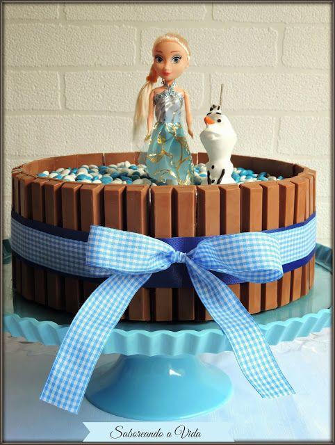 """saboreando a vida: O Bolo Kit Kat """"Frozen"""" da Sophia,"""