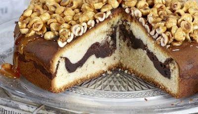 Περιβόλι της Παναγιάς: Βασιλόπιτα γεμιστή με σοκολάτα & καραμελωμένα φουν...