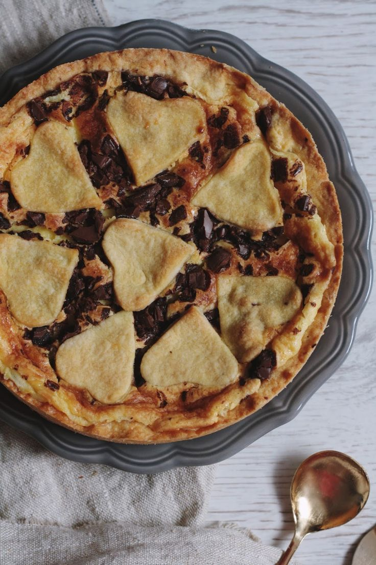 Тарт из рикотты и маскарпоне с шоколадом от Джейми Оливера