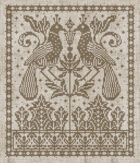 Two Birds in One Tree - PDF cross-stitch pattern. $7.00, via Etsy.
