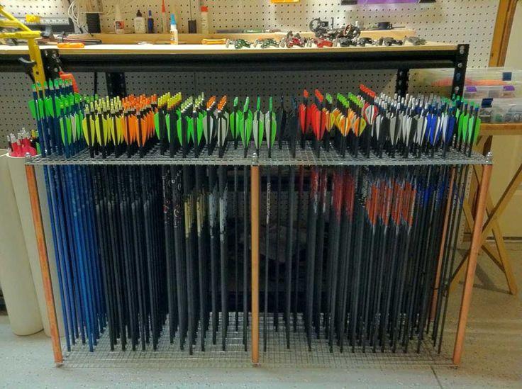 Archery Arrow Display   Arrow display rack?