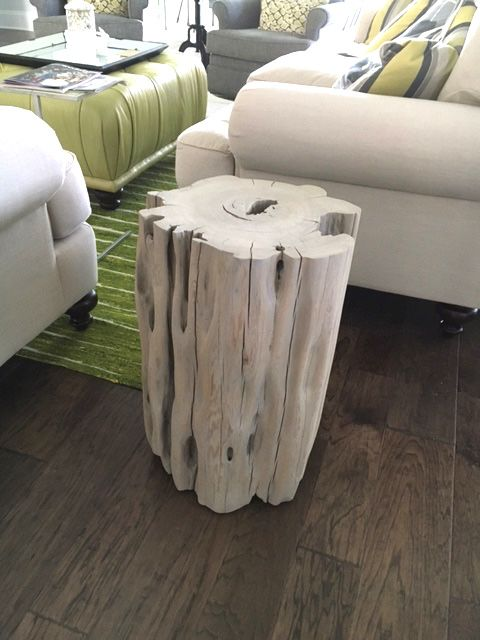 Reclaimed Sinker Cypress Side Table In Grey Tone By Natural Creations.