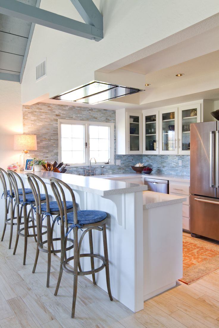 41 best backsplash images on pinterest kitchen countertops great tile work change up the bar stools charmean neithart interiors dailygadgetfo Image collections