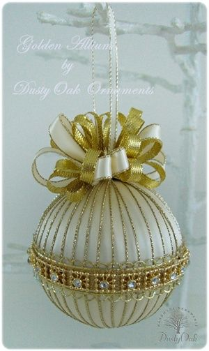 Golden Allium (this one is sold) - lots of other ornaments available, including custom