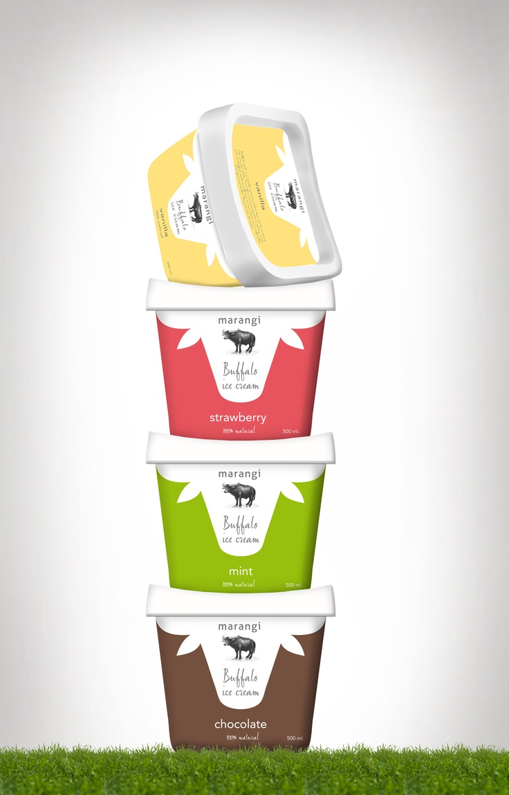 Buffalo Icecream #packaging #butterflycomunicacio