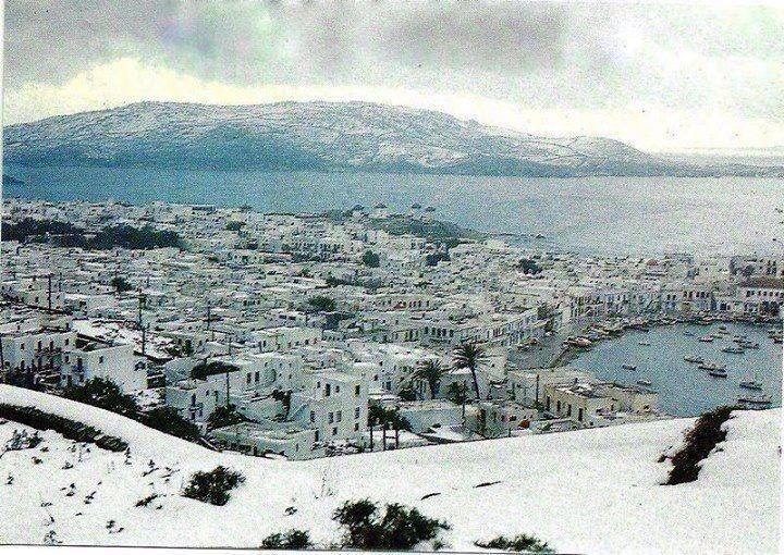 Snow in Mykonos