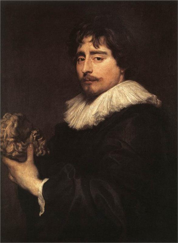 VAN DYCK Sir Antoon van Dyck - Flemish (Antwerpen 1599-1641 Londen) ~ Portrait of the Sculptor Duquesnoy, 1627-1629