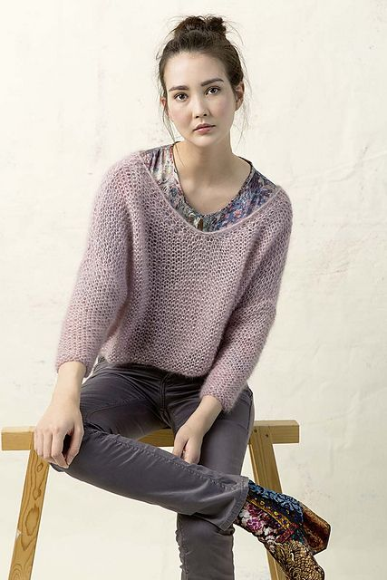 Ravelry: FLY_019 Lang Yarns Mohair Trend pattern by LANGYARNS SWITZERLAND