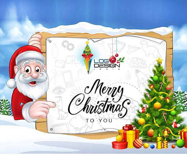 Merry Christmas Logo Design India Company Logo Design Corporate Identity Design