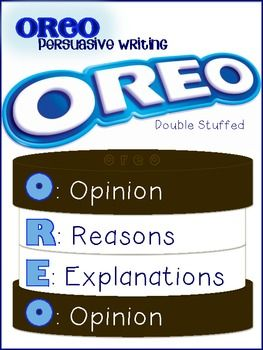 *Persuasive OREO Writing* Poster/Graphic Organizer/Prompts
