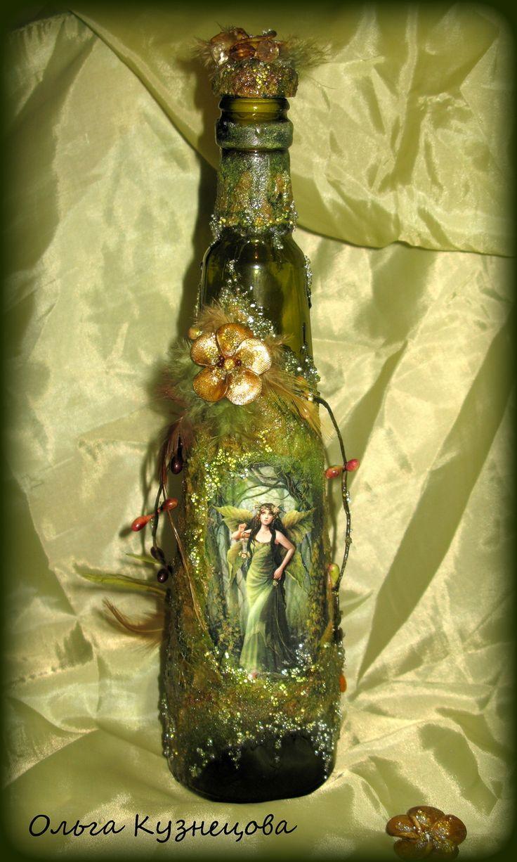 декор бутылки с вином фото система позволяет приобрести