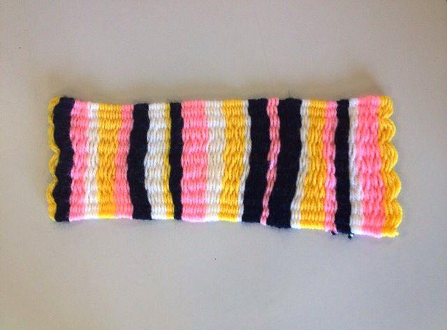 KMHS Year 10 Visual Arts student weave sample.