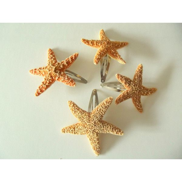 Starfish Hair Clip Mermaid Accessory ($12) ❤ liked on Polyvore
