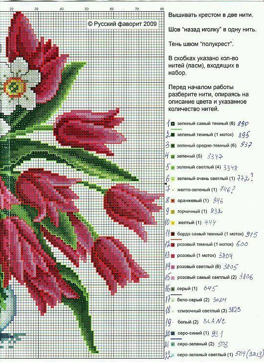 vaso+fiori+puntocroce014a.jpg (540×740)