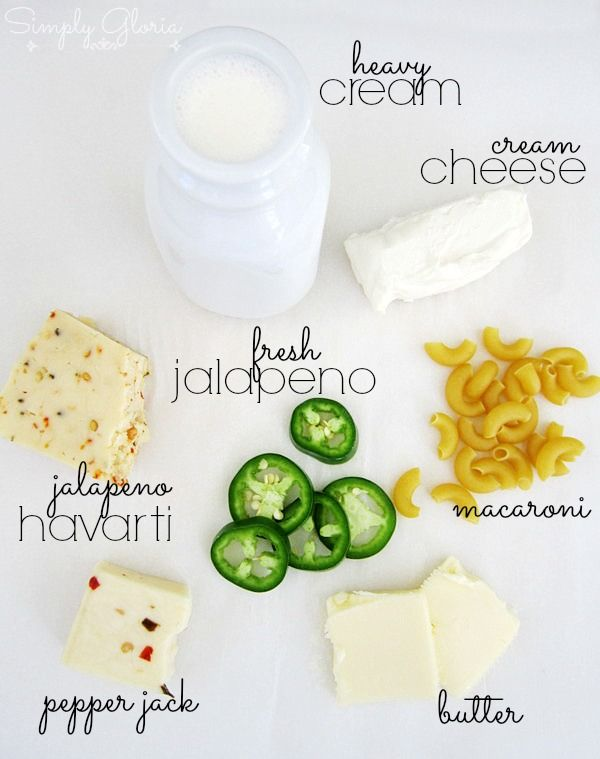 Creamy Havarti Jalapeno Mac & Cheese Ingredients