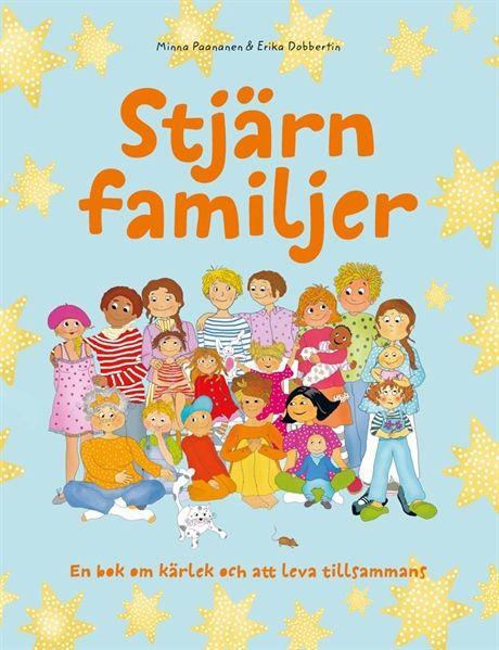 En familj behöver inte alltid bestå av mamma, pappa och deras barn. Det finns många olika familjer och ingen är mer rätt än någon annan.   I den här boken får man träffa en del av de familjer som finns i vårt samhälle. I slutet av boken finns ett arbetsmaterial som man kan arbeta med, tillsammans med barnen. Vad är en familj? Hur kan en familj se ut?  Inbunden bok. 32 sidor.   Författare: Minna Paananen. Illustratör: Erika Dobbertin.