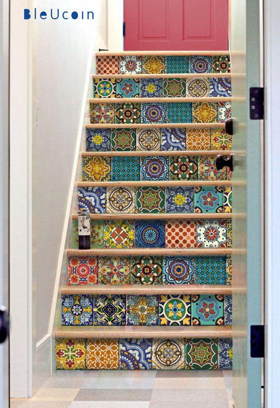 Fliesen / Wand / Treppen Aufkleber : Mexikanische von Bleucoin