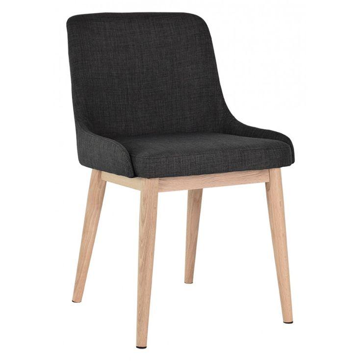 Edgar stol i grå textil - 2 st / pak - Välj ben :: Matbord och stolar, Matbord och stolar > Matstolar och Stolar