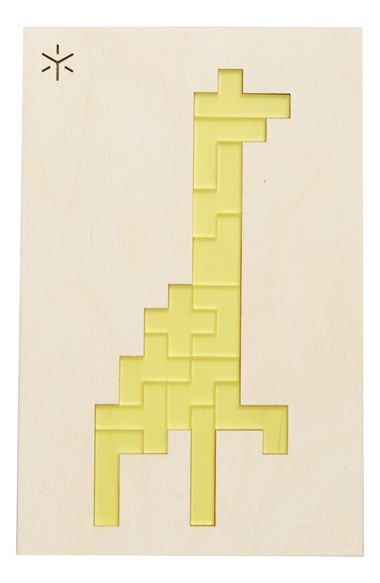 Bright Beam Goods Giraffe Pentomino Puzzle available at #Nordstrom