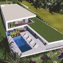 Casas de estilo minimalista por 3.SA