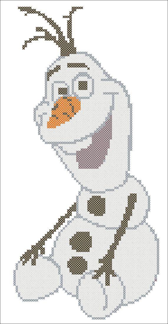 PDF OLAF  Frozen cross stitch pdf Pattern  от Rainbowstitchcross