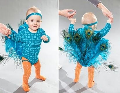 baby peacock costume meghannmurphy    Stuff like this makes me wants little girl...but then I remember I get to make capes and buy action figures. :)
