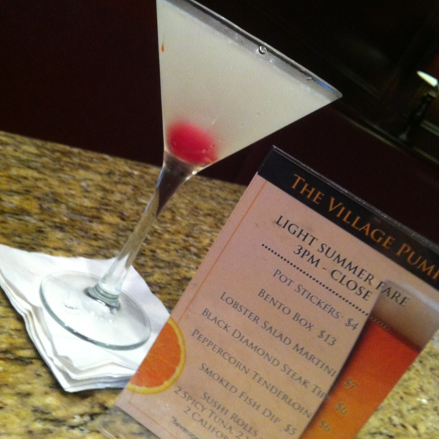 Cherry Lemonade Martini Wednesday Thursday Saturday @ the Village Grille / The Village Pump / The Village Grille Sushi Bar is when I'm mixing!  www.VillageGrille.com