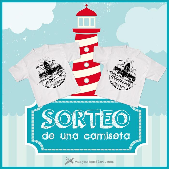"""Sorteo en Viajes con """"flow"""": Participa y gana una camiseta aventurera. Más info en: http://www.viajesconflow.com/sorteo-camiseta-viajes/ #sorteos #concursos #viajes #travel #concurso #sorteo"""