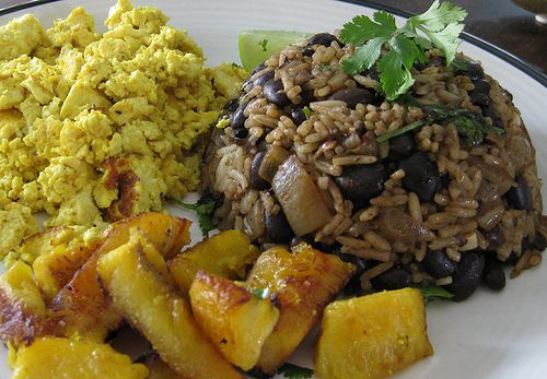 Gallo pinto.  The BEST Costa Rican breakfast made even better with Salsa Lizano!