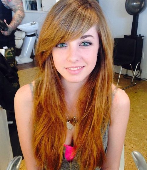 Outstanding 1000 Ideas About Long Hairstyles With Bangs On Pinterest Blonde Short Hairstyles Gunalazisus