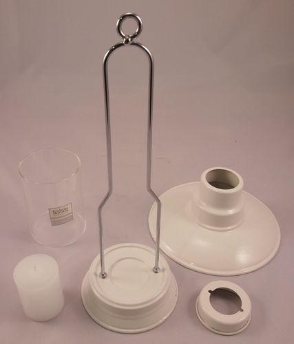Steady Sticks Retro Kitchen enamel White Alfresco Lamp, candle, great gift idea
