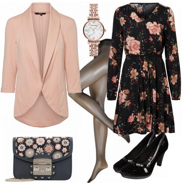 Abend Outfits: FlowerBomb bei FrauenOutfits.de #fashion #fashionista #mode #damenmode #frauenmode #damenoutfit #frauenoutfit #outfitinspiration #outfitinspo #handtasche #winter #frühling #trend #trend2018 #blumen #blazer #uhr #armani