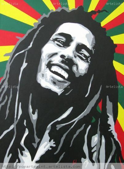 *Bob Marley* More fantastic paintings, pictures and videos of *Bob Marley* on: https://de.pinterest.com/ReggaeHeart/ ©Nancy White