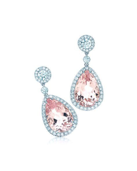 Pink diamond earrings - Tiffany and co.