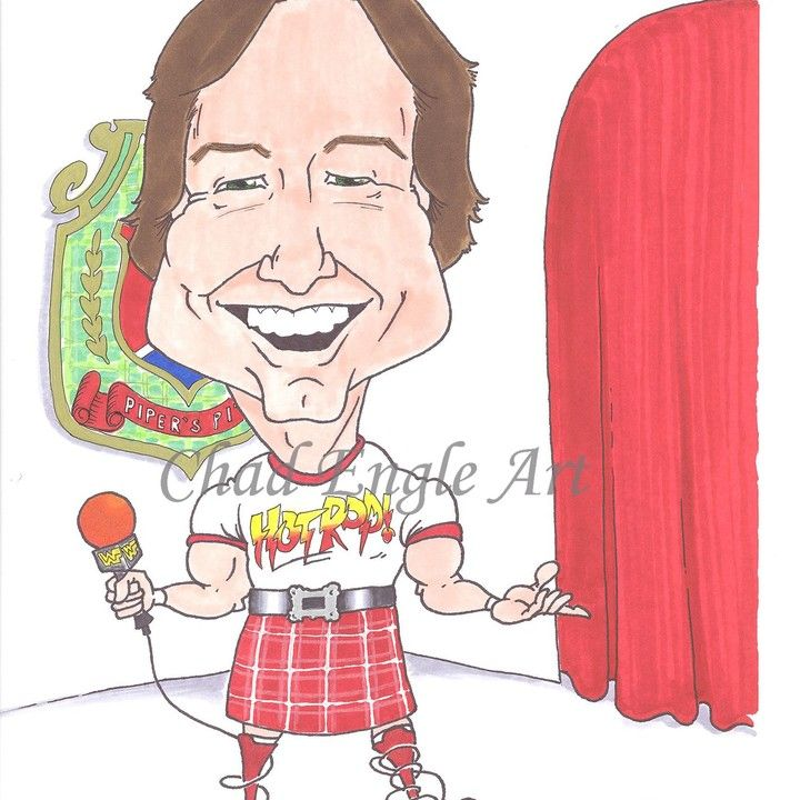 Rowdy Roddy Piper from Chad Engle Art for $7.00