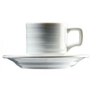 Ceasca pentru ceai din colectia Sato. Are capacitate de 280 ml, este realizata din portelan alb, lucios, si are textura pe exterior.