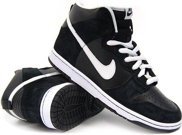 Dunk High Pro SB (BLK/White) Nike SB Mens Shoes