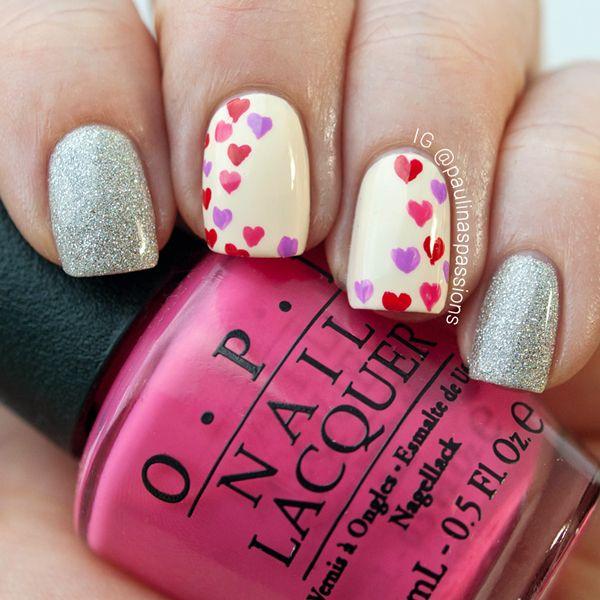 Valentine Nails – Mini Hearts