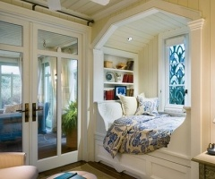 I would love to cozy up in this bed with a cup of tea & a book!