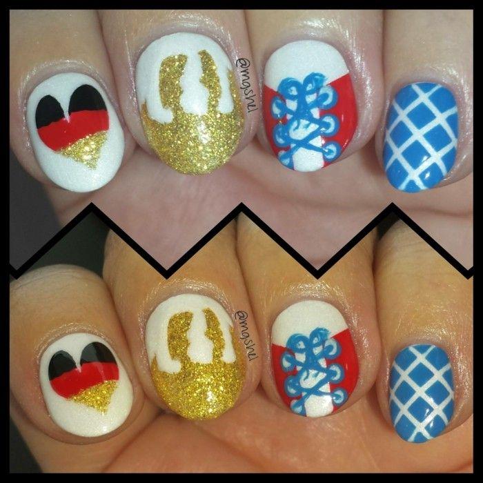 Nägel mit der deutschen Fahne