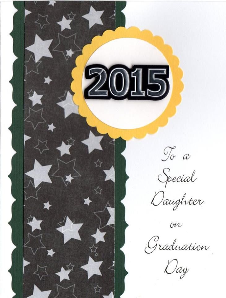 Miriam's Designs Handmade Greeting Card To A Special Daughter on Graduation Day #MiriamsDesigns #MiriamsCards #mkj102 #handmade #card #graduation #classof2017